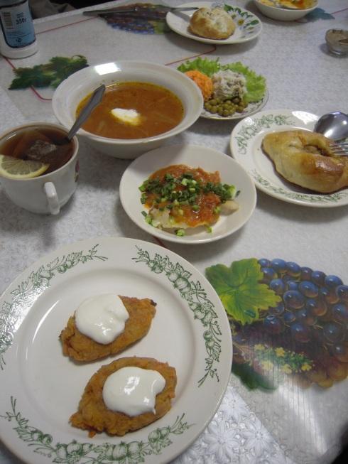 Repas typiquement russe