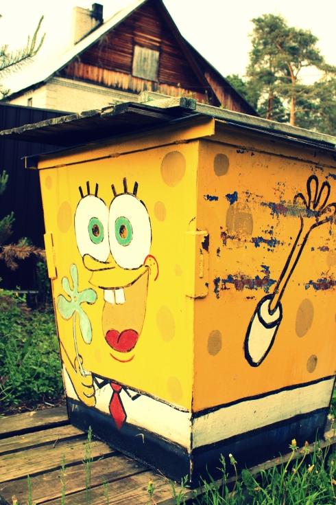 Un collector dans Luga, LA poubelle Bob l'Eponge ! Je la trouve tellement sympathique.
